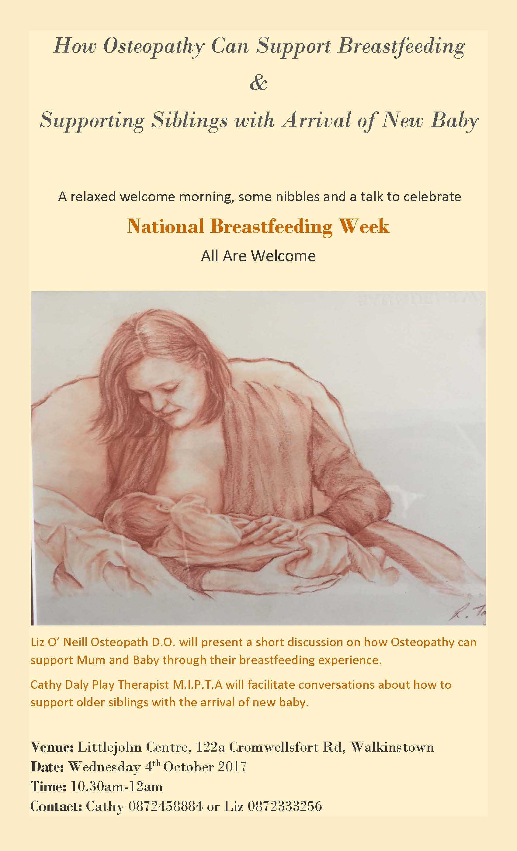 poster for breastfeeding week